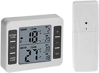 Fenteer Thermo Hygrom/ètre de Haute Pr/écision Thermom/ètre analogique avec Affichage Cadran Digital pour Int/érieur Ext/érieur