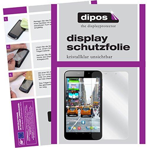 dipos I 2X Schutzfolie klar kompatibel mit Odys Orbit LTE Folie Bildschirmschutzfolie