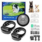 WSpring Dog Fence Wireless, Pet Containment System, Electric Dog Fence, Safe Effective Beep & Shock Dog Fence, Waterproof & Rechargeable Collar Receiver(2 Dogs)