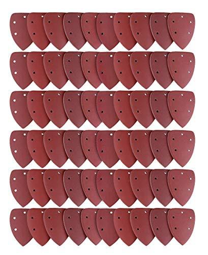 Lot de 60 Feuilles Abrasives, Joyoldelf Papier de Ponçage 40/60/80/100/120/180/240/320/400/800 Idéal pour Ponceuse Multifonction
