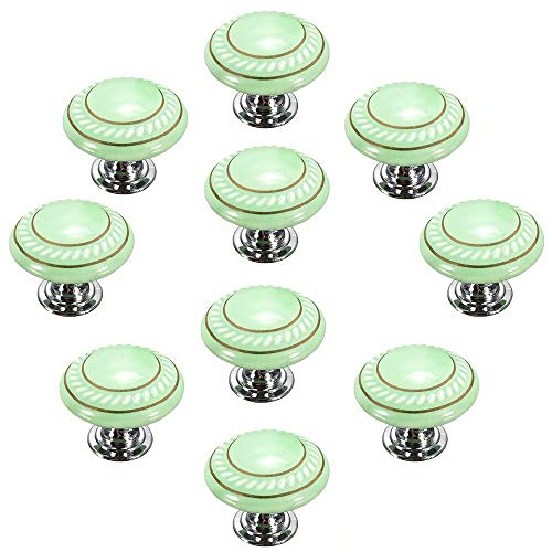 Bathroom,Cupboard Etc with Screws CSKB Black 10PCS Retro Simple Style Round Ceramic Door Knob Handle Pull Knobs Door Cupboard Locker for Drawer,Cabinet,Chest Dresser Bin