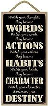 (sjt94582) reloj tus pensamientos se convierten en palabras, reloj tus palabras se convierten en acciones 5