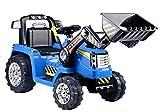 Lean Toys ZP1005 Tracteur lectrique pour Enfant Bleu