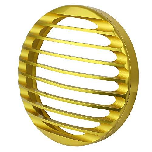 """IGUANA CUSTOM PARTS - Parrilla dorada embellecedora de faro central delantero - Válida para Sportster u otros modelos con faros tipo Bates de 5.3/4\"""" o 16,5 cm"""