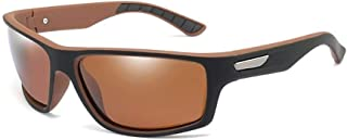 ZMP Sports PC Frame Polarized Anti-UV Sunglasses Riding Driving/Baseball Ultra Light Unisex Sunglasses (Color : Tea)