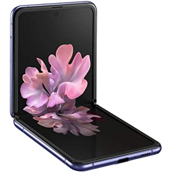 Samsung Galaxy Z Flip 4G LTE | SM-F700N 256GB | Factory Unlocked - Korea International Version (Mirror Purple) | Includes Saru Speaker