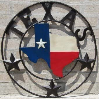 LL Home Metal Texas Map Circle by LL Home product image