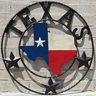 LL Home Metal Texas Map Circle by LL Home