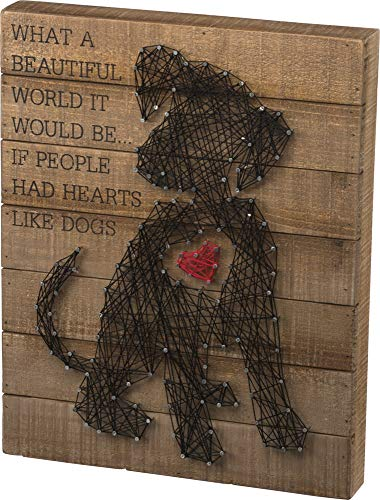 Primitives by Kathy 33159 String Art Box Sign, Puppy Heart