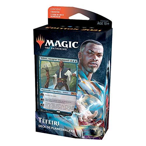 Magic: The Gathering- Deck de planeswalker Téfeiri, Voyageur Intemporel, Édition de Base 2021