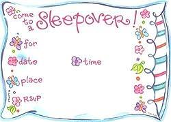 Best slumber party invitations kids will love girls pillowtalk birthday invitations stopboris Gallery