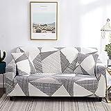 Topchances - Funda de sofá de 2/3/4 plazas, impresión extensible, funda de sofá, funda de sofá decorativa, funda de almohada del mismo color (Moka, 2 plazas)