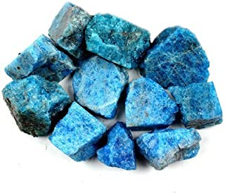 Crystal Allies Materials: 1lb Bulk Rough Blue Apatite Stones from Madagascar - Large 1