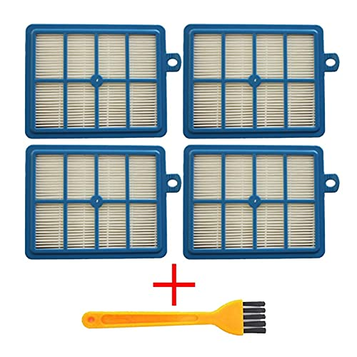 ZRNG Lavable 2 unids Polvo Filtro HEPA H12 H13 + 4PCS Filtro de algodón de Motor Ajuste para Philips Electrolux AEG Aspirador Piezas de Repuesto La instalación es Simple y fácil de Usar. (Color : A)