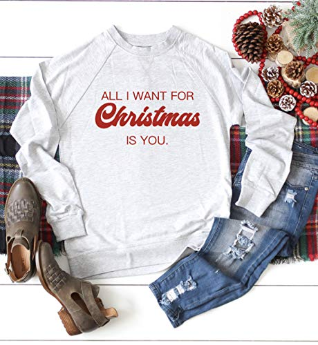 All I want for Christmas is you Sweater, Christmas Sweater, Women's Cute Christmas Sweater
