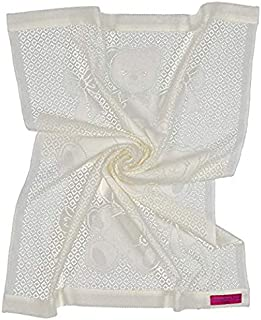 Southampton Home Lace Weave Bears & Bows Baby Blanket (Ivory)