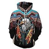 Felpe con Cappuccio 3D Unisex Hipster Cool Animal Hoody Winter Manica Lunga Streetwear Pullover Classici 2 M
