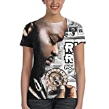 MinnieGCraig Rick Ross Port of Miami Womens Fashion Round Neck Short Sleeve T-Shirt L Black