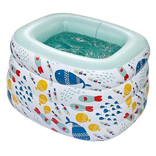 CNMDB Piscina Inflable Piscina Rectangular Bebé portátil Baby Bathtub Pool Pool POY POY Pit Ball Pit por Edades 3+ Niños