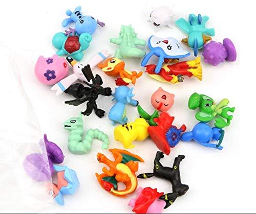 Pack 48 piezas Pokemon Mini Figuras Pokemon Pikachu para Fiestas de niños Regalos, Piñata o decoración