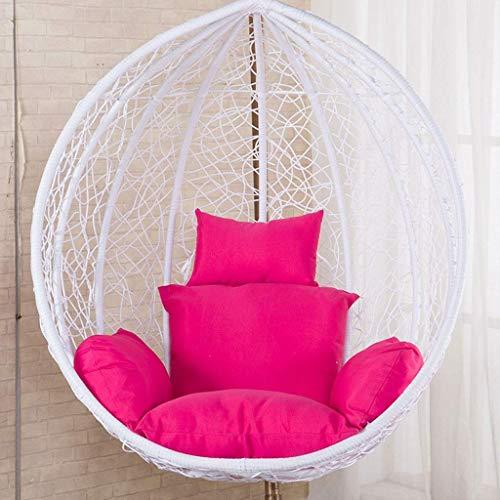 LIYANJIN Ei Hängematte Stuhl Kissen Schaukel Stuhl Kissenauflagen Eiförmiger Stuhl für Garten-Terrassenmöbel, geben Eltern und Kindern EIN Geschenk (Farbe: Pink) (ohne...
