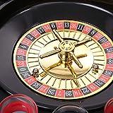 WELLGRO® Trinkspiel Roulette - mit 1 Roulette-Rad, 16 Schnapsgläser und 2 Spielkugeln - Party-Spaß, bei dem der Zufall entscheidet - 6