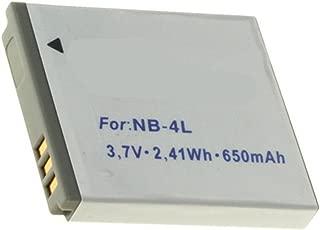 100 IS Cargador Batería NB-4L NB4L 710mAh para Canon Digital IXUS 30 70