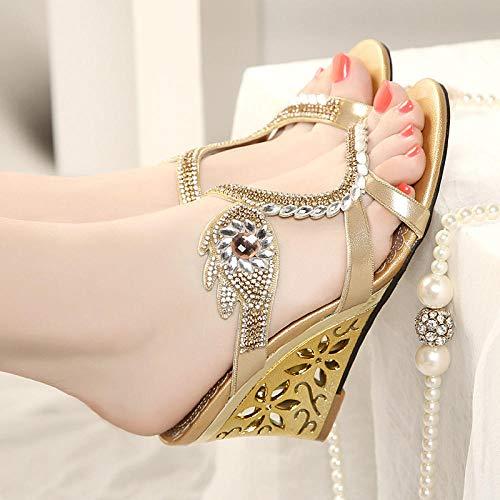 ypyrhh Zapatillas de casa Antideslizantes para Interiores y Exteriores,Zapatillas de Mujer, Sexy Open Toe High Heels-Purple_35,Zapatos de Barbie
