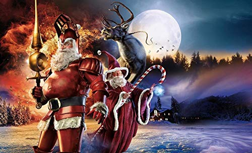 UYTRE Santa Claus Paint by Numbers DIY Canvas Oil Painting Kit for Adults Beginner with Paint Brushes and Acrylic Pigment-Without Frame Home Decoration Gifts(H-40 cm x M / B-60 cm)