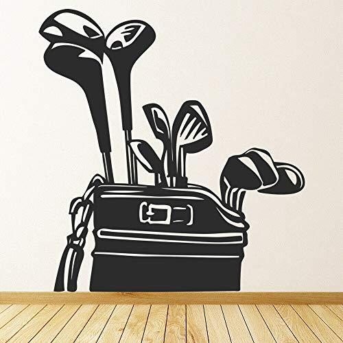 Tianpengyuanshuai Muursticker Golfista Caddy voor de vrije tijd sport decoratie voor deuren en ramen vinyl muursticker afneembaar