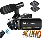 Videocamera Ultra HD 4K Videocamere 30MP 18X Digital Zoom Videocamera 3.0' LCD Touch Screen...