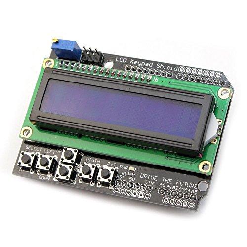 DollaTek LCD Keypad Shield LCD1602 LCD 1602 Module Display For ATMEGA168 ATMEGA328 ATMEGA2560 ATMEGA1280 UNO Blue Screen