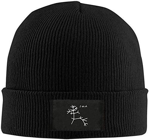 Preisvergleich Produktbild Sdltkhy Darwin I Think Tree Knitted Hat Winter Outdoor Hat Warm Beanie Caps for Men Women Black