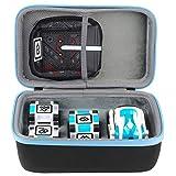 co2crea Hard Storage Case for Anki Robot/Anki Cozmo/Cozmo Collector's Edition Robot (Not for Anki Vector Robot) (Black Case + Blue Zipper)