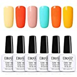 Elite99 Smalto Semipermente per Unghie Gel UV LED Smalto per Unghie in Macaron 6 Colori Lucido Kit per Manicure Smalti Gel per Unghie Soak Off 10ML - C001