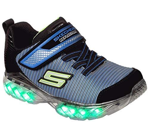 Skechers Jungen Flex-Charge - Ronix Sneaker, Schwarz (Black/royal), 35 EU