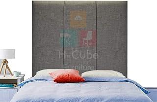 H-Cube meble Alton trójpanelowa wyściełana podstawa łóżka Divan zagłówek Turyn tkanina seria 10 cm montowana na ścianie (s...