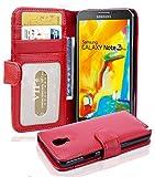 Cadorabo Hülle für Samsung Galaxy Note 3 NEO in Inferno ROT – Handyhülle mit Magnetverschluss & 3 Kartenfächern – Hülle Cover Schutzhülle Etui Tasche Book Klapp Style