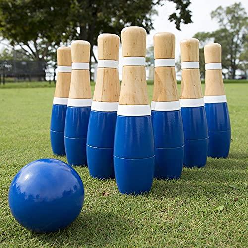 Lawn Bowling Game Outdoor Fun Wooden Backyard Lawn Bowling Set Teens Family Bowling Set Indoor Home Bowling Alleys Kids Toys Lawn Bowling Game