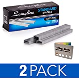 Swingline Staples, Standard, 1/4' Length, 210/Strip, 5000/Box, 2 Pack | 5 Color Flags…