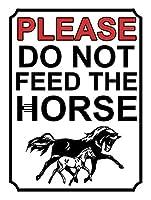 馬に餌を与えないでください メタルポスタレトロなポスタ安全標識壁パネル ティンサイン注意看板壁掛けプレート警告サイン絵図ショップ食料品ショッピングモールパーキングバークラブカフェレストラントイレ公共の場ギフト