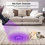WOWTOY UV Torch Light, 100 LED UV Black Light Flashlight Pet Dog Cat Urine Stains Scorpion Bed Bug Detector Light, Super Bright Blacklight Detector for Pet Stains, Carpet, Floor 14