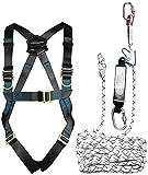 ACE Arnés Seguridad Anticaídas - Arnes Trabajos en Altura - de 1 Punto - Deslizante Sobre Cuerda - EN 353/361 - hasta 100 kg