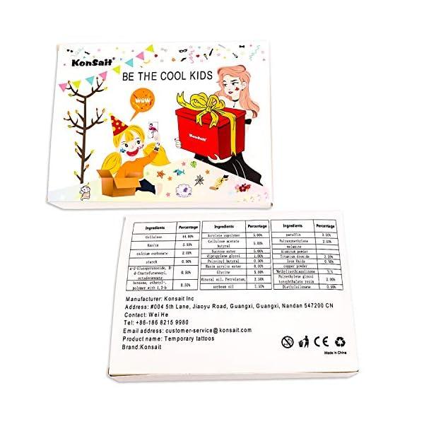 Unicorn Temporary Tattoos for Children Kids Girls(45Sheets),Konsait Great Girls Fake Stickers Waterproof Rainbow Unicorn… 6