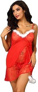 SuperUS Women's Mrs. Claus Santa Costume Cosplay Christmas Dress Costume