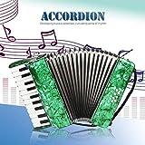Fisarmonica, Pianoforte a 22 tasti 8 Fisarmonica Fisarmonica diatonica Strumento musicale educativo Strumento a tastiera per principianti Studenti Bambini Bambini(verde)