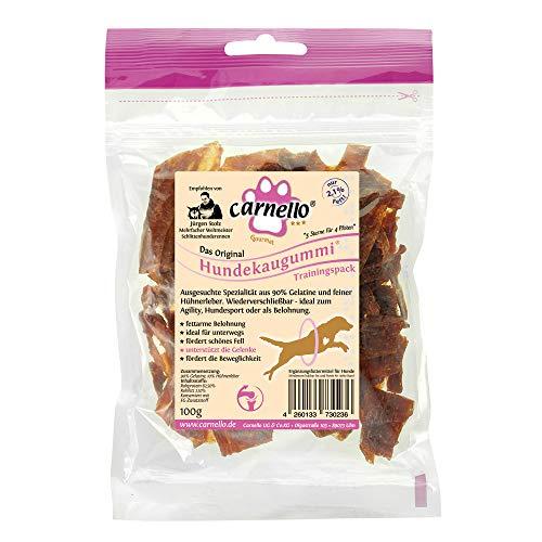 Carnello Hundeleckerli - Hundekaugummi Trainingspack - Fettarme Belohnungs Leckerlis für aktive Hunde, Hunde Snack, Kausnacks für Große und Kleine , wiederverschließbar (1 x 100g)
