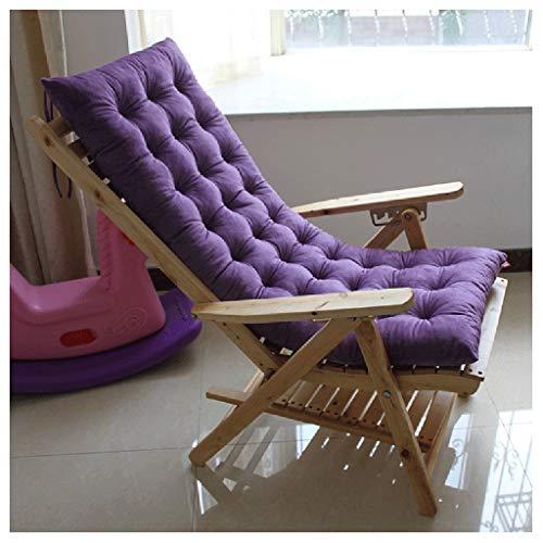 HEJINXL Transat Jardin Matelas Terrasse Épais Pad Outdoor Douillet Élastique Chaise Confortable Antidérapant Épais Rembourré (Pas De Chaise) Coussin Bain Soleil (Color : B, Size : 48x120cm)