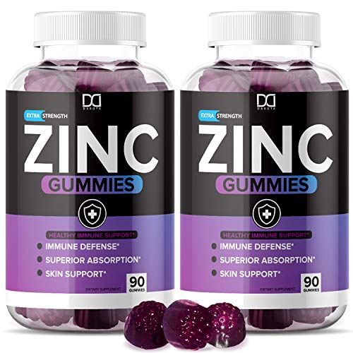 (180 Gummies) Zinc Gummies for Adults Kids, Zinc Chewable Vitamin Supplements 30mg with Echinacea for Immune Support - Immunity Booster Gummy Alternative to Lozenge Capsules Pills Tablets (2 Pack)