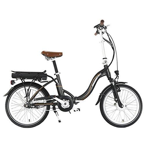 Onway elektrische vouwfiets, 20 inch, nauwkeurige Shimano 7 versnellingen, 5 ondersteuningsniveaus E-bike, LCD-modus display